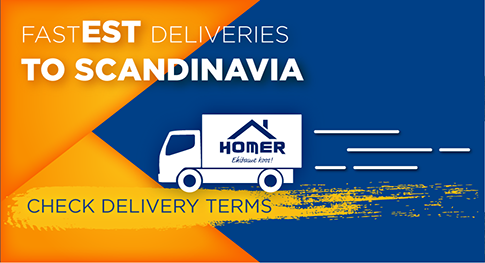 Fast delivery from estonia to scandinavia